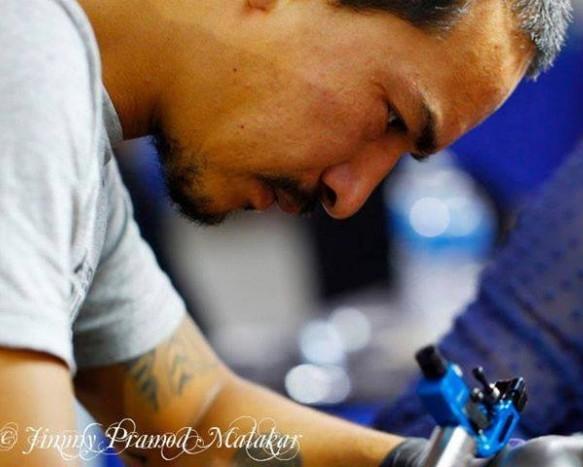 Pralhad Shrestha Tattoo artist Participant in New Delhi