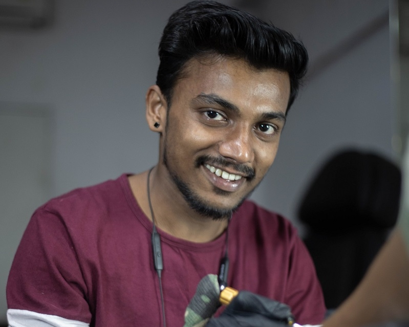 Devendra Palav Tattoo artist Participant in New Delhi